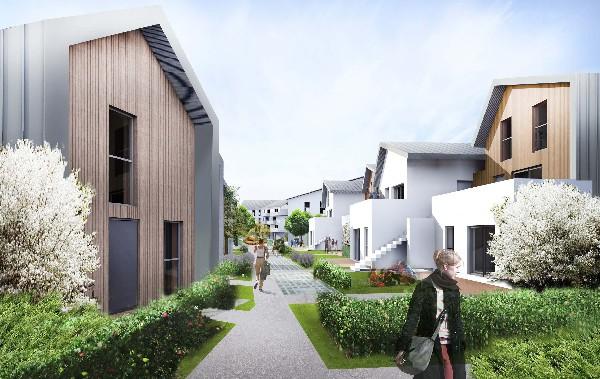 operation de logements sociaux. 82 logements.  ecoquartier Le Sycomore à Bussy Saint Georges